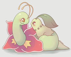 Meganium and Chikorita