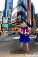 Avengers Evening Gown: Captain America in Times Sq by BenaeQuee