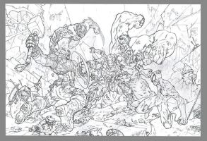 Avengers vs Ultron WIP by MinohKim