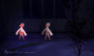 [MMD] Night ghosts are everywhere by CryogenicNeon