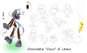 Coco Lemur Model Sheet by KicsterAsh