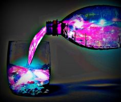 Pouring the Universe by Girl-Who-Cried-Death