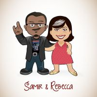 Caricature couple by Bebecca