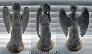 Weeping Angel Statue Progress by Ideationox