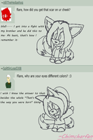 Scars and Eye Color: Answers by chimcharfan