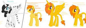 Big Cat Ponies Species Ref by LittleSnowyOwl