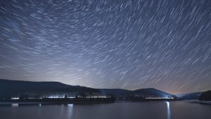 Startrail at Soesetalsperre by Cassini246