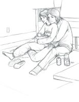 Jen and Will Cuddle! by Mytherea