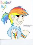 Humanized Rainbow Dash by The1King