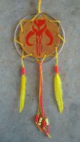 Mandalorian Dream Catcher (Gold/Yellow) by RebelATS