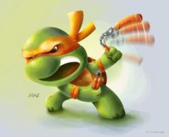 Mike TMNT by debergolas