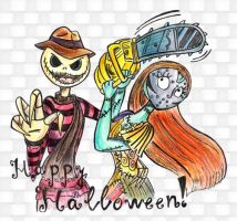 Jack and Sally Happy Halloween by Lilostitchfan