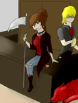 Me In Black Butler At A Reaper Bar Colored by Mighty-C-amurai