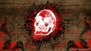 Wallpaper Splash Skull by GustavoHRG