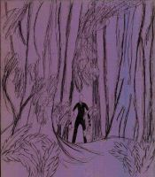 SlenderMan Forest by WingedDragonLover