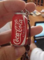close up to my coke keychain by ginajaja