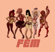 Tgirl super group, FEM by AmourFonce