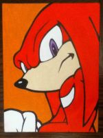 Knuckles the Echidna painting by TheScarecrowOfNorway