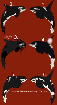 Halloween Orca point Adopts by SapphireBlueOcean12