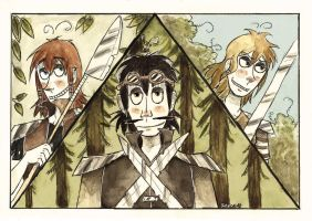 Warriors Of The Forest by Inky-Shade