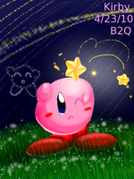 Kirby's night 4 shooting stars by Bowser2Queen