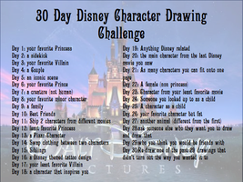 30 Day Disney Character Drawing Challenge by eraport6
