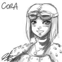 Cora Head Sketch by johnjoseco