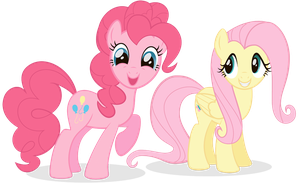 Pinkie and Fluttershy by JuGeer