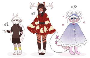 lil horned adoptables [ CLOSED ] by Kalpaca