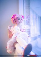 Madoka by the Window by vi-ki