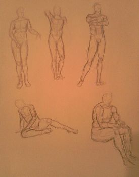 Greek Statue Sketches2 by MyWorld1