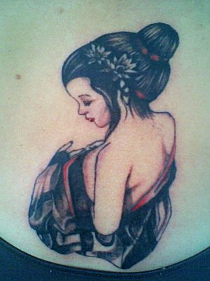 Nice Tattoos Art With Japanese Girl Tattoo Designs Typically Japanese Geisha