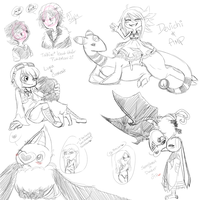 PR: Doodle Dump + Gifty Sketches by A-Someday-Dreamer