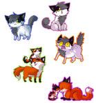 Mitchthefoxcatwolf Chibi Batch //PC by memedokis