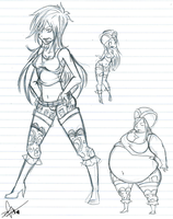 Bonney Sketches by Squidbiscuit