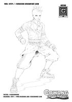 JIN LINE ART 2012 01 by GERCROW