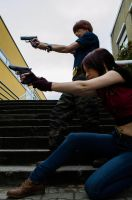 Time to shoot - Steve Burnside and Clarie Redfield by KaLi-Cosplay