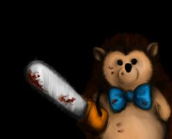 Hedgehog with Chainsaw _Reload by ErizoInfernal