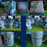 Vaporeon Mug And Friends by kiraradaisuki