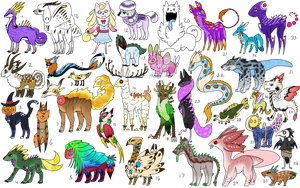 Crazy Creatures III - NYP/FREE - 1/33 OPEN by Artzy-Adopts