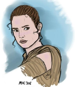 Rey Star Wars by TabithaDrambel