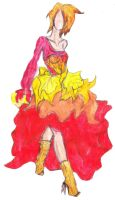 Fire Dress by IsaacMonster