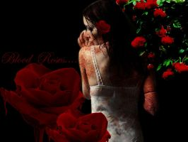 Girl with blood rose by shiyen119