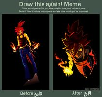 Before and After MEME - Kirha by RubyFeather