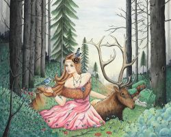 The Queen of the Forest by vanessa-lim