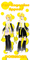 Pose pack Kagamine append by ShootingStarBlue