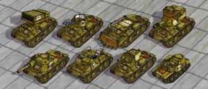 Tambrian Light Tanks DETAIL by wingsofwrath
