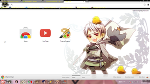 Hetalia Prussia chrome theme. by BARELA