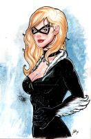 Black Cat Watercolor by ArtisticSchmidt