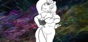 This dress is for you football head unfinished by black-shaddow-walker